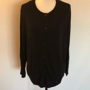 Black Lane Bryant Crew Neck Cardigan SZ 18/20